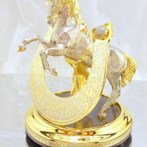 Подкова с конем на Агате
