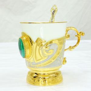 """Кофейная чашка """"Малахит"""""""