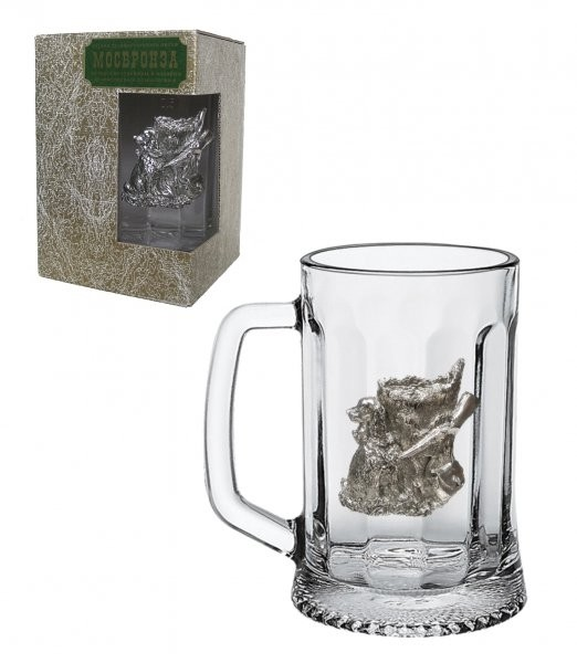 Подарочная пивная (для кваса) кружка Охотничье Счастье