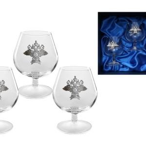 Подарочный набор бокалов для коньяка (бренди) Полицейский Стандарт
