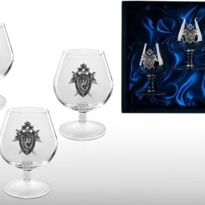 Подарочный набор бокалов для коньяка (бренди) Прокурорский Стандарт