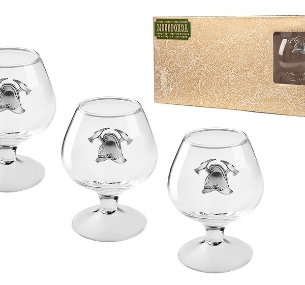 Подарочный набор бокалов для коньяка (бренди) Противопожарный