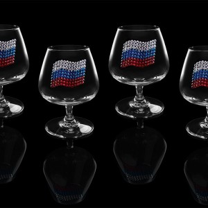 Подарочный набор бокалов для коньяка (бренди) Триколор