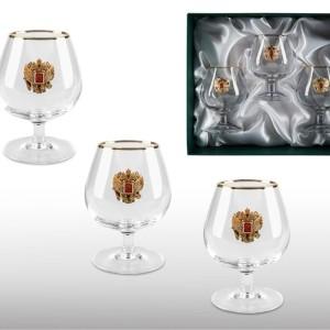 Подарочный набор бокалов для коньяка и бренди Золотой Запас