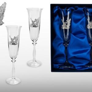 Подарочный набор бокалов для шампанского, вина Верность