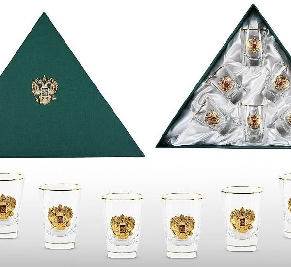 Подарочный набор водочных стопок Золотой Запас