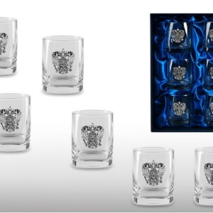 Подарочный набор дизайнерских стаканов для виски и рома Державный