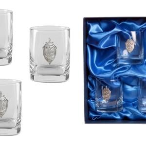 Подарочный набор дизайнерских стаканов для виски и рома Стандарт ФСБ