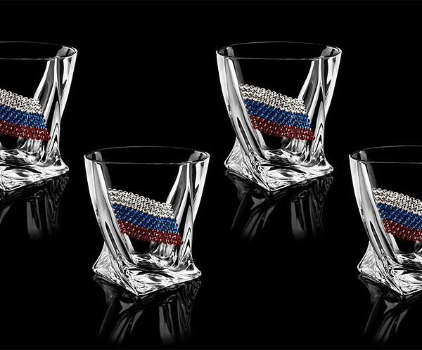 Подарочный набор стаканов для виски Триколор