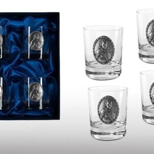 Подарочный набор стаканов для виски и рома Император