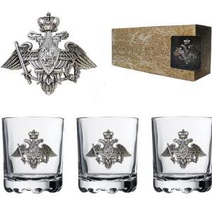 Подарочный набор стаканов для виски и рома Отечество, Долг, Честь