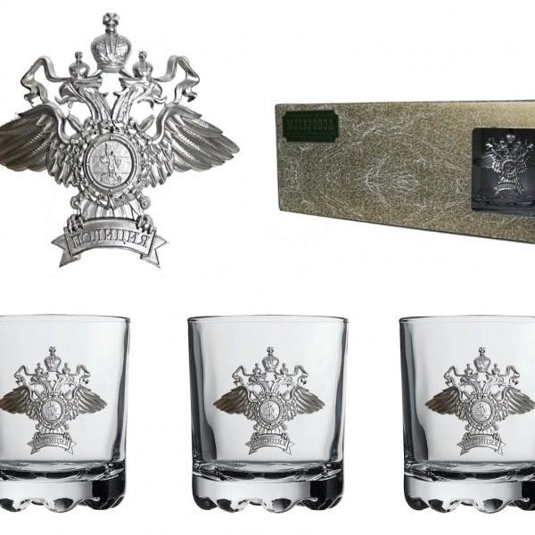 Подарочный набор стаканов для виски и рома Полиция(2)