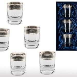 Подарочный набор стаканов для виски и рома Праздничный