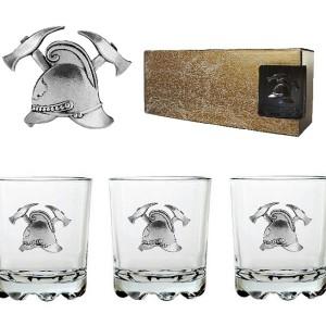 Подарочный набор стаканов для виски и рома Противопожарный