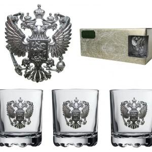 Подарочный набор стаканов для виски и рома Русь