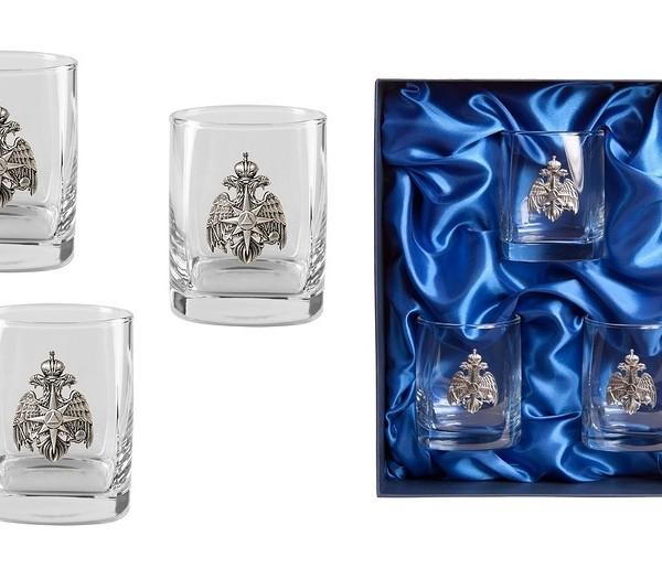 Подарочный набор стаканов для виски и рома Стандарт МЧС