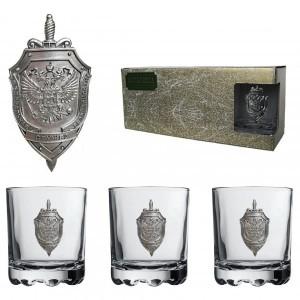 Подарочный набор стаканов для виски и рома Чекист