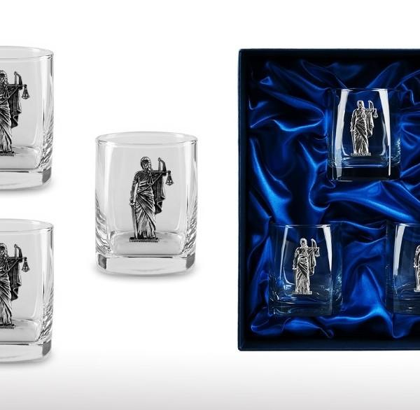 Подарочный набор стаканов для виски и рома Dura dex, Sed Lex